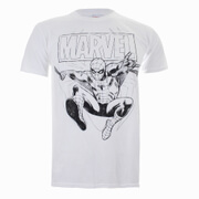 Marvel Spiderman Lines Heren T-Shirt - Wit