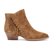 Ash Women's Lenny Suede Tassel Ankle Boots - Russet - UK 5