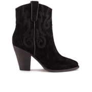 Ash Womens Joe Suede Heeled Boots  Black  UK 3