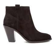 Ash Women's Ivana Suede Heeled Ankle Boots - Black - UK 4