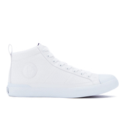 Polo Ralph Lauren Mens Clarke Canvas HiTop Trainers  Pure White  UK 7