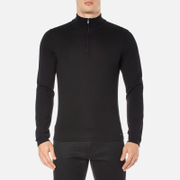 HUGO Men's San Gottardo Quarter Zip Jumper - Black