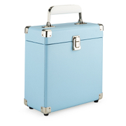 GPO Retro Portable Carry Case for 7-Inch Vinyl Records - Blue