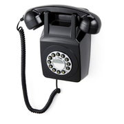 GPO Retro 746 Push Button Wall Telephone – Black