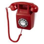 GPO Retro 746 Push Button Wall Telephone – Red