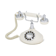 GPO Retro Opal Push Button Telephone – Cream/Chrome
