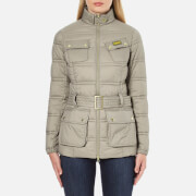 Barbour International Womens Pannier Baffle Quilt Jacket  Taupe  UK 10
