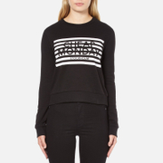 Cheap Monday Women's Win Stripe Logo Sweatshirt - Black - M/UK 10