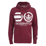 Crosshatch Mens Quon Kangaroo Pocket Hoody  Syrah  S