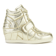Ash Kids' Babe Metal Rock Wedged Hi Top Trainers - Platine - EU 33/UK 1 Kids - Salescache