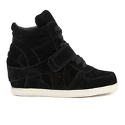 Ash Kids' Babe Suede Wedged Hi Top Trainers - Black - EU 28/UK 10 Kids