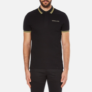Versace Jeans Men's Tipped Polo Shirt - Black