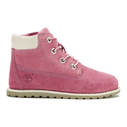 Timberland Toddler's Pokey Pine Size Zip Lace Up Boots - Pink Nubuck