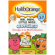 Haliborange Kids Omega 3 & Multivitamins Orange Softies Mini Packs - Pack of 7