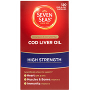 Seven Seas Cod Liver Oil High Strength Capsules - 120 Capsules