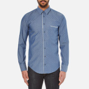 BOSS Orange Men's Cieloebue Long Sleeve Shirt - Blue
