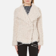Vero Moda Women's Jayla Short Fake Fur Jacket - Moonbeam