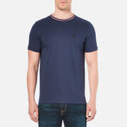 Luke 1977 Men's Skinny Striper Crew Neck T-Shirt - Marina Navy