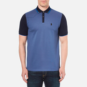 Luke 1977 Men's Steve The Doorman Tipped Collar Polo Shirt - Electric Blue