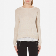 ONLY Women's Porto Long Sleeve Jumper - Pumice Stone