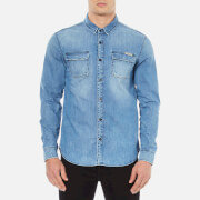 Calvin Klein Men's Classic Denim Shirt - Light Indigo