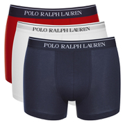 Polo Ralph Lauren Men's 3 Pack Boxer Shorts - White/Red/Blue