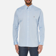 Polo Ralph Lauren Men's Custom Fit Button Down Pinpoint Oxford Shirt - Blue