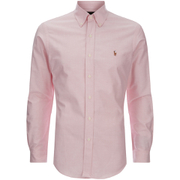 Polo Ralph Lauren Mens Slim Fit Button Down Stretch Oxford Shirt  Pink  M