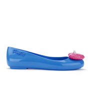 Jeremy Scott for Melissa Women's Space Love Ballet Flats - Blue Contrast Heart
