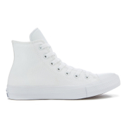 Converse Chuck Taylor All Star II Hi-Top Trainers - White/White/Navy - UK 4