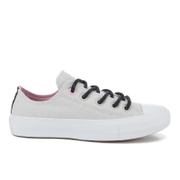 Converse Women's Chuck Taylor All Star II Shield Canvas Ox Trainers - Mouse/White/Icy Pink - UK 3