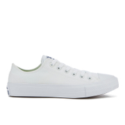 Converse Chuck Taylor All Star II Ox Trainers - White/White/Navy - UK 3