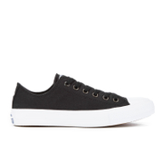 Converse Chuck Taylor All Star II Ox Trainers - Black/White/Navy - UK 4