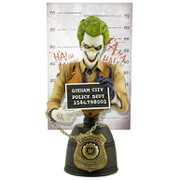 Image of Cryptozoic Entertainment DC Comics The Joker Mugshot 7 Inch Bust