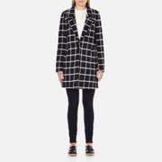 Maison Scotch Women's Bonded Wool Coat In Checks & Solids - Multi - 2/UK 10