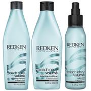 Redken Beach Envy Volume Texturizing Shampoo (300 ml) og Texturizing Conditioner (250 ml) ogVolume Wave Aid (125 ml)