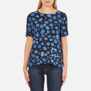 Selected Femme Women's Yana Top - Print Combo Blue