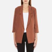 Selected Femme Women's Gavina 3/4 Sleeve Blazer - Rustic Brown - EU 34/UK 6