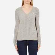Polo Ralph Lauren Womens Kimberly Cashmere Blend Jumper  Light Vintage Heather  L