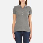 Polo Ralph Lauren Womens Julie Polo Shirt  Soft Flanel Heather  L