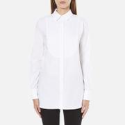 MICHAEL MICHAEL KORS Women's Cotton White Bib Shirt - White