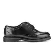 Dr. Martens Women's Charlotte Polished Smooth Etched Brogues - Black