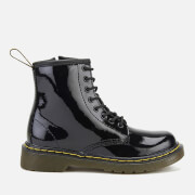 Dr. Martens Kids' 1460 J Patent Lamper Lace Up Boots - Black