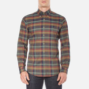 Polo Ralph Lauren Mens Long Sleeve Checked Twill Shirt  CaféMaro  M
