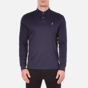 Polo Ralph Lauren Mens Long Sleeve Custom Fit Polo Shirt  French Navy  XL