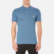 Polo Ralph Lauren Mens Short Sleeve Slim Fit Polo Shirt  Marine Heather  XXL