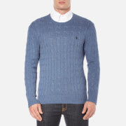 Polo Ralph Lauren Mens Long Sleeve Crew Neck Knitted Jumper  Night Blue Heather  L