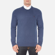 Polo Ralph Lauren Mens Crew Neck Merino Knitted Jumper  Shale Blue Heather  M