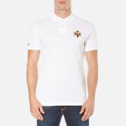 Polo Ralph Lauren Mens Short Sleeve Large Logo Polo Shirt  White  L