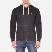 Polo Ralph Lauren Men's Zip Through Hooded Athletic Fleece - Black Marl Heather